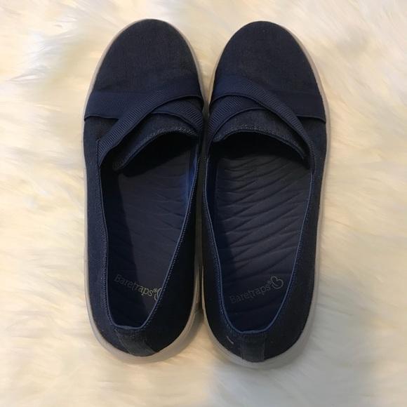 Bare Traps Navy Denim Tennis Shoes Deck